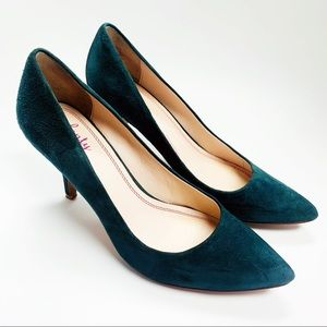 ANTHROPOLOGIE Plenty by Tracy Reese Green pump 8.5